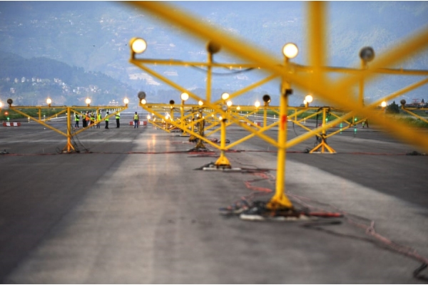 Runway end safety areas at Tribhuvan International Airport improved