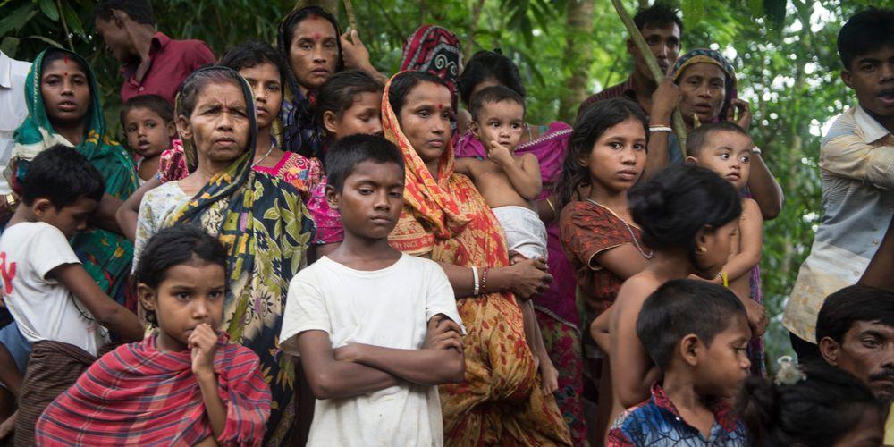 Hindu Rohingya refugees in Bangladesh. Photo credit: Parvez Ahmed