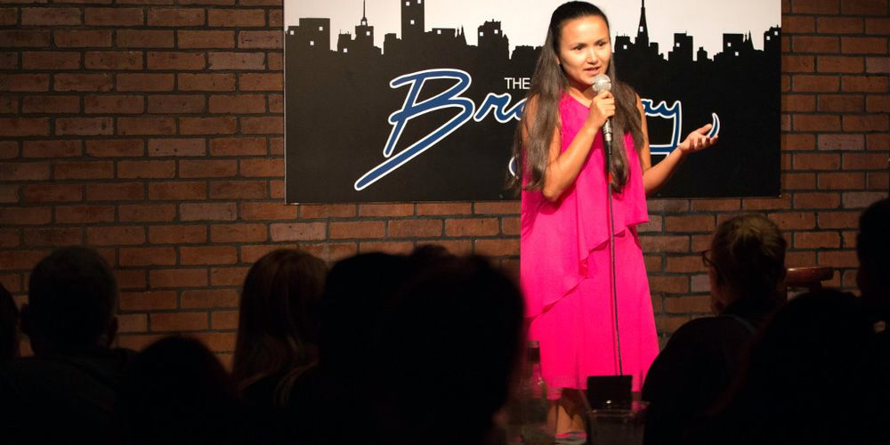 Manhattan, New York. September 8, 2017 – Shailee Basnet performs a 10-minute set at Broadway Comedy Club in New York. 09/08/2017. Photo by Tsering D. Gurung