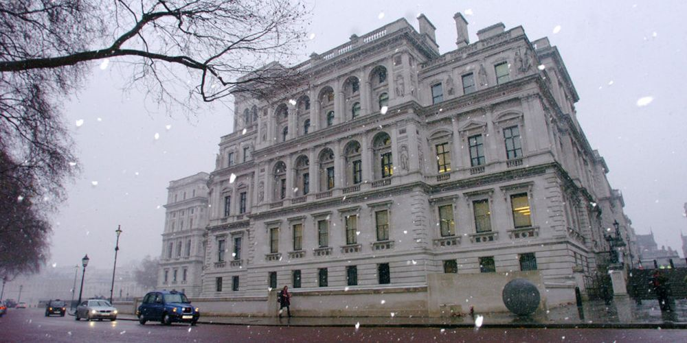 The Foreign & Commonwealth Office main building in snow on 16 December 2009. Photo credit: Foreign and Commonwealth Office / Flickr