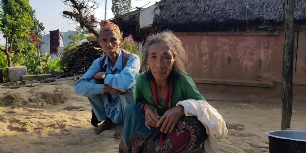 Dhan Bahadur and his wife, Dhan Maya, at their home in Bhotekhola/ The Record