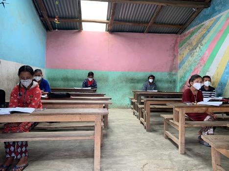 A socially distanced classroom.