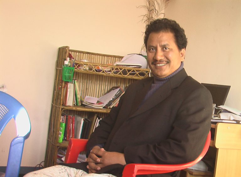 Biplab leads the Maoists who want to revive the people's government . Photo: Nabin Bibhas