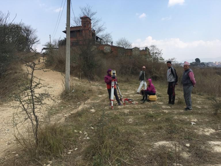Fast Track surveyors in Khokana, near Sikali.