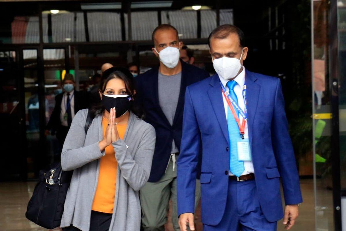 MCC Vice President Fatema Z Sumar (left) arrived in Kathmandu on September 9.