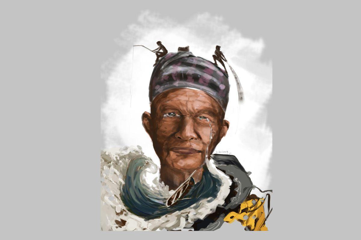 A portrait of Asman Majhi