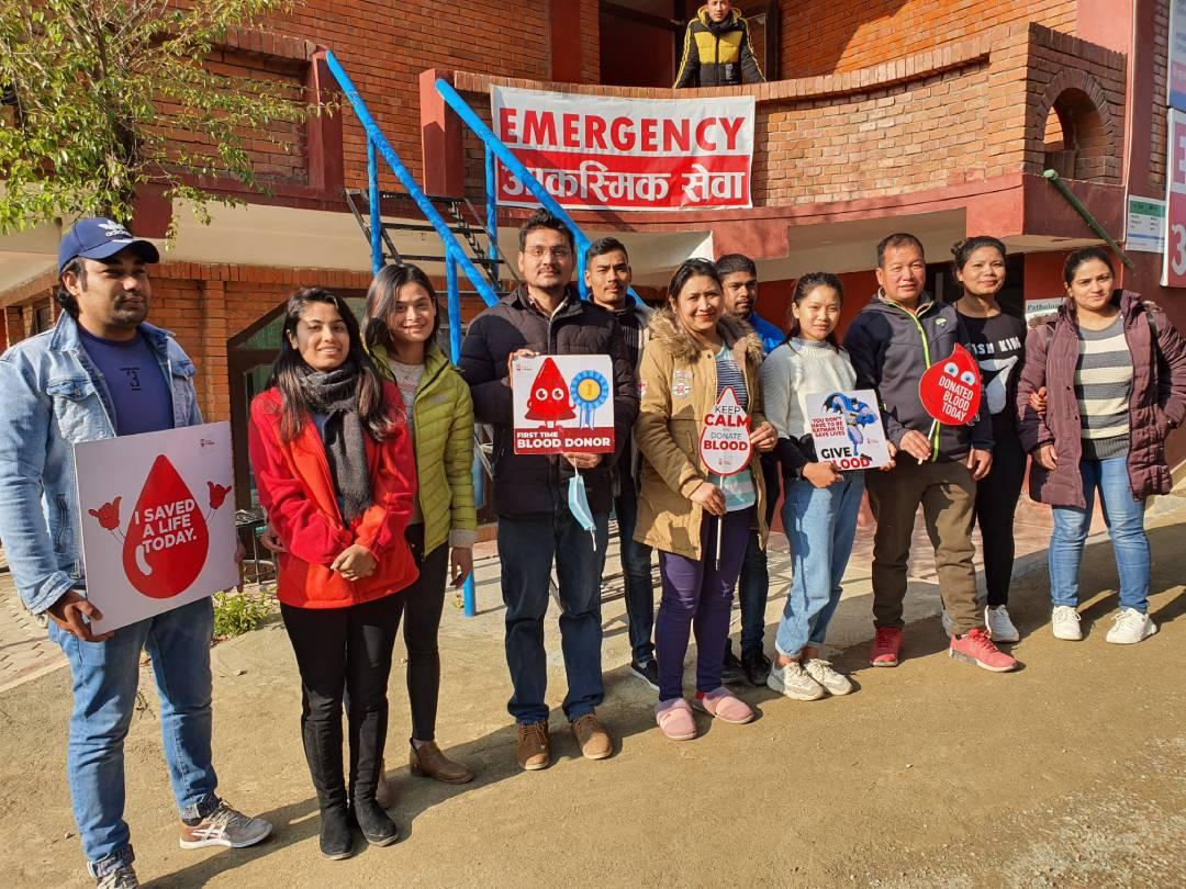 Control Addiction Nepal Blood Drive