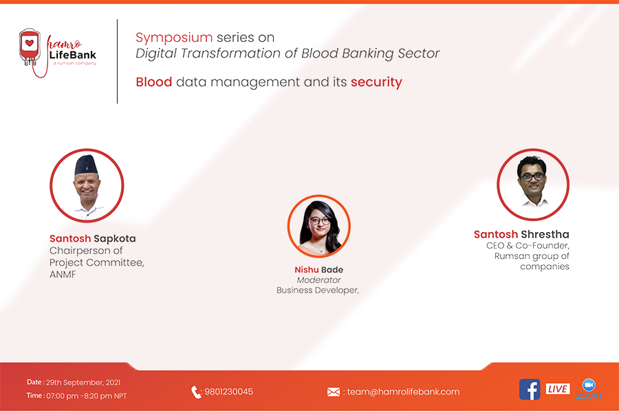 Blood data management and its security in the blood banking sector.